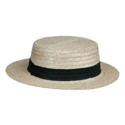 Sombrero Canotier de bambú...