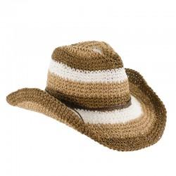 Sombrero Cowboy Striped Crochet