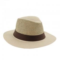 Sombrero Indiana Celulosa con Rejilla de Fibras Naturales