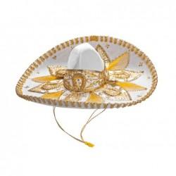 Sombrero Charro Mexicano Auténtico Terciopelo Bordado